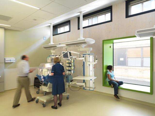 Client: Royal United Hospital, Bath NHS Trust, Project: Dyson Centre for Neo Natal Care, Value: £3.2m
