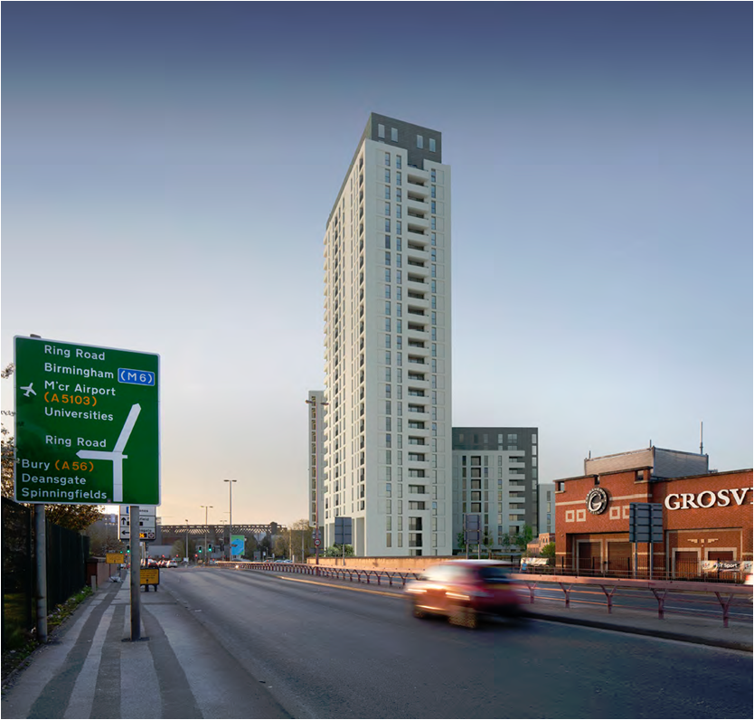 Client: Renaker, Project: Water Street, Manchester, Value £50 million