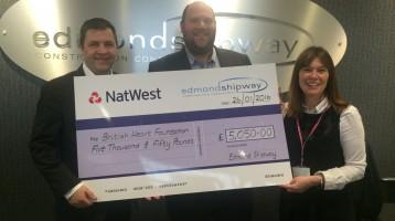 Edmond Shipway raise over £5,000 for British Heart Foundation
