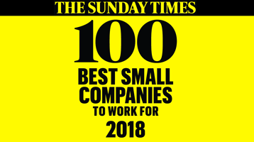Sunday Times 100 Best Small Companies to Work for List