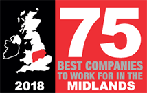 Best Companies to work for in the Midlands – Edmond Shipway Reaches Top Ten